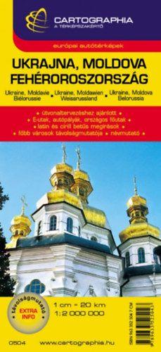 Ukrajna - Moldova - Fehéroroszország autóstérkép 1:2 000 000