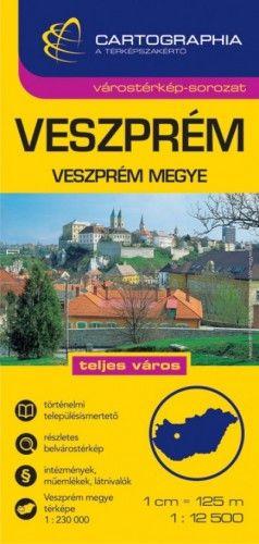 Veszprém Várostérkép 1:12 500 -  pdf epub