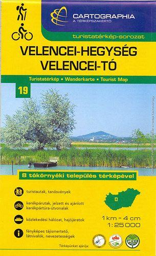 Velencei - hegység Velencei - tó turistatérkép - 1:25000
