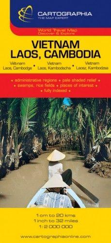 Vietnám, Laosz, Kambodzsa térkép