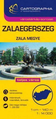 Zalaegerszeg várostérkép - Zala megye - 1:14 000