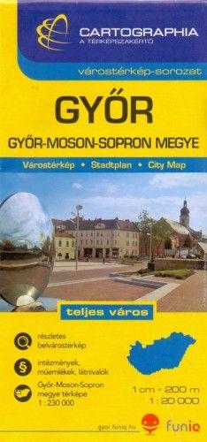 Győr várostérkép 1:20 000