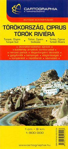 Törökország, Ciprus - Török riviéra 1:900 000