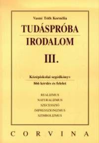 Tudáspróba - Irodalom IV. - Vasné Tóth Kornélia pdf epub