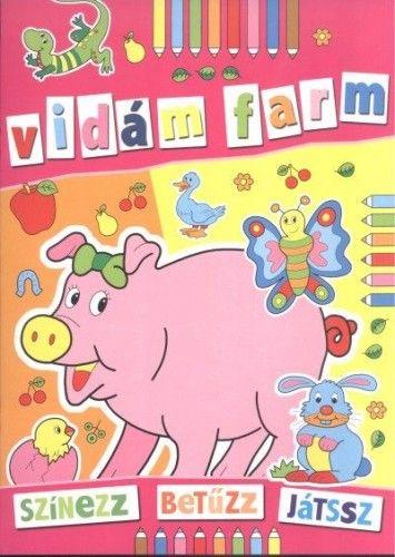 Vidám farm - színezz, betűzz, játssz