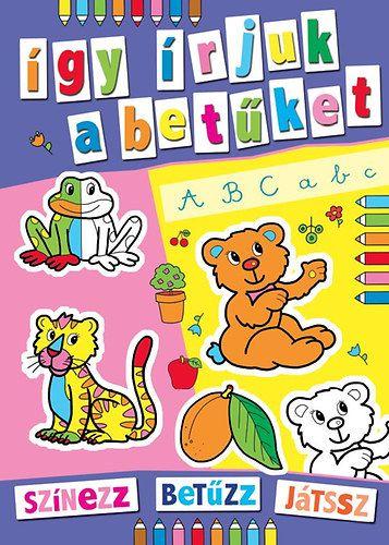 Színes állatkert - színezz, betűzz, játssz