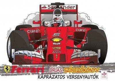 Káprázatos versenyautók - Ferrari óriás színezőkönyv -  pdf epub
