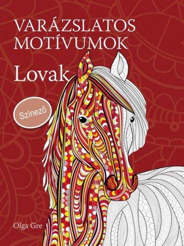 Varázslatos motívumok - Lovak - Színező