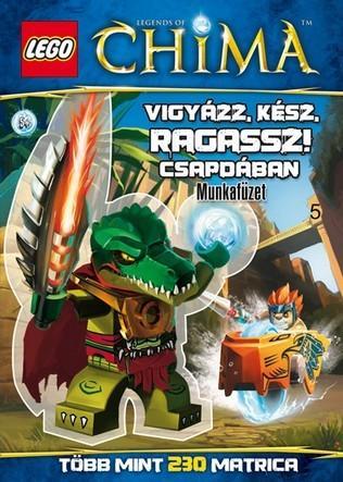 Vigyázz, kész, ragassz! - Csapdában - LEGO® Legends of Chima™matricás munkafüzet -  pdf epub