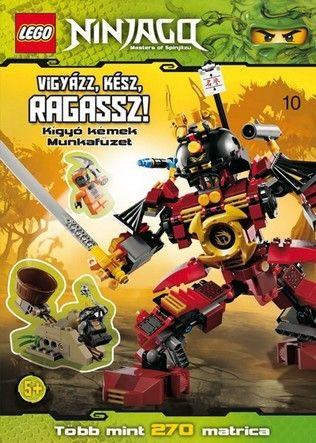 Vigyázz, kész, ragassz! Kígyó kémek - LEGO Ninjago matricás munkafüzet