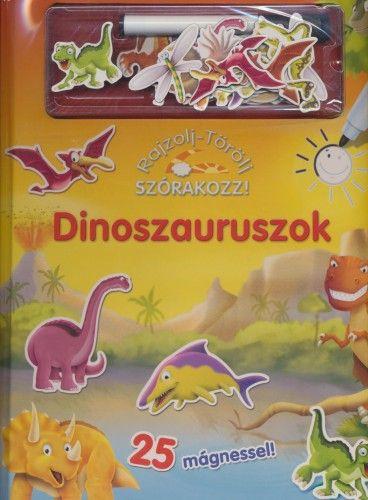 Dinoszauruszok - Rajzolj - törölj, szórakozz! - 25 mágnessel!