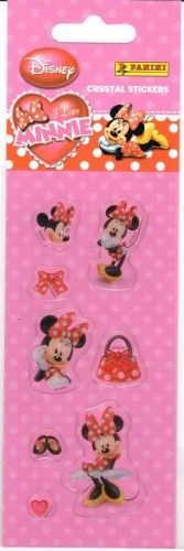 Matrica - I love Minnie / Crystal stickers
