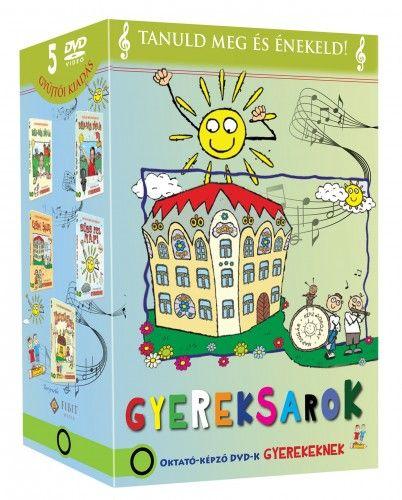 Gyereksarok díszdoboz (5 DVD) Bújj-bújj zöld ág, Bújj-bújj zöld ág 2., Cifra Palota, Süss fel nap!, Zimme zum - Oktató képző DVD-k