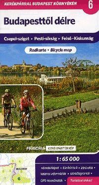 Budapesttől délre 1 : 65 000 - Turistatérkép Csepel-sziget - Pesti-síkság - Felső-Kiskunság