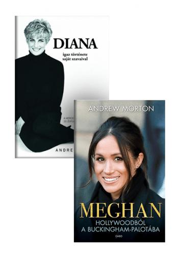 Andrew Morton: Diana igaz története + Meghan - könyvcsomag