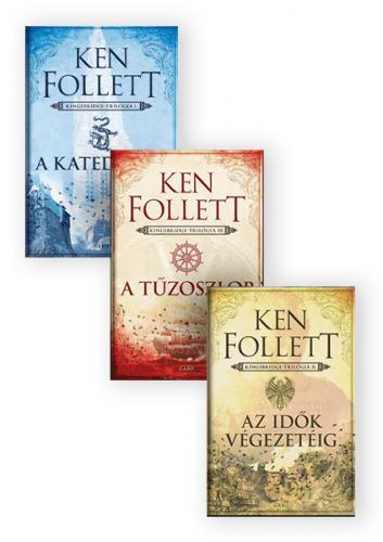 Ken Follett: A katedrális + Az idők végezetéig + A tűzoszlop - könyvcsomag