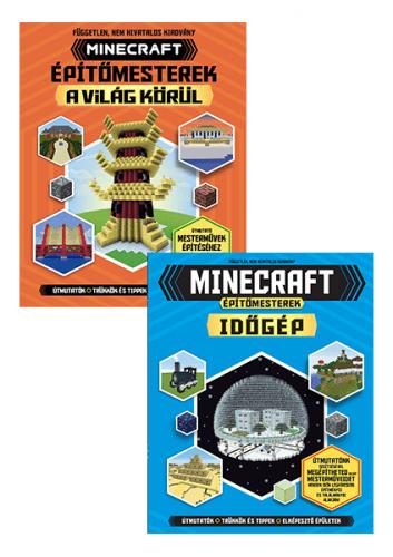 Minecraft: Építőmesterek a világ körül +  Építőmesterek-időgép - könyvcsomag