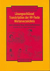 Lösungsschlüssel - Transkription der HV-Texte Wörterverzeichnis