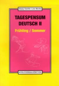 Tagespensum Deutsch II. - Frühling/Sommer