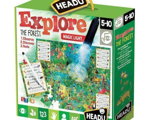 Megfigyelő puzzle mágikus lámpával - Fedezd fel az erdőt!