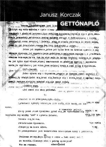 Janusz Korczak - Gettónapló