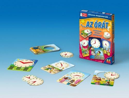 Játszva megismerjük az órát (puzzle)