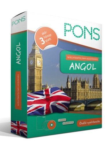 Pons Nyelvtanfolyam kezdőknek - Angol - Önálló nyelvtanulás - 1 könyv - 4 Audio-CD