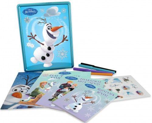 Jégvarázs - Olaf tökéletes napja (fémdoboz, benne: 3 könyv, 4 filctoll, poszter és matricák)
