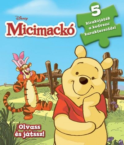 Szivacsos kirakókönyv - Micimackó