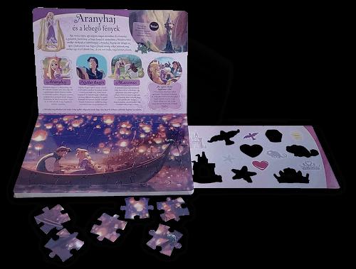 A Hercegnők varázslatos világa (négy kirakós játékkal és egy nagy rajzsablonnal)