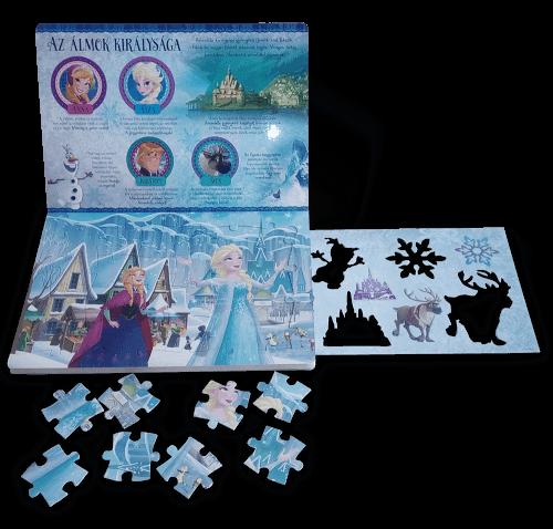 Jégvarázs: Anna és Elza varázslatos világa (négy kirakós játékkal és egy nagy rajzsablonnal) - Disney |