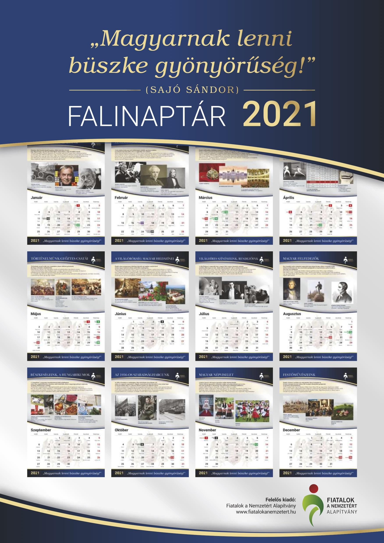 Magyarnak lenni büszke gyönyörűség - Falinaptár 2021