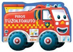 Piros tűzoltóautó