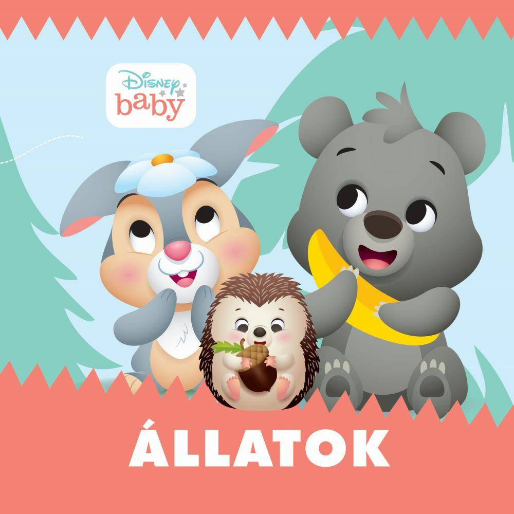 Disney Baby - Állatok - zörgős textil könyv