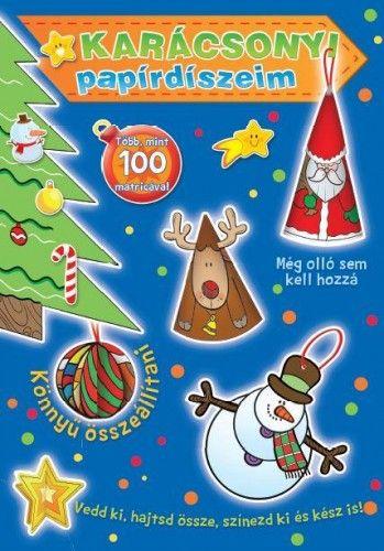 Karácsonyi papírdíszeim (kék)