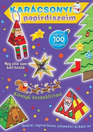 Karácsonyi papírdíszeim (lila)