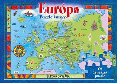 Európa puzzle-könyv