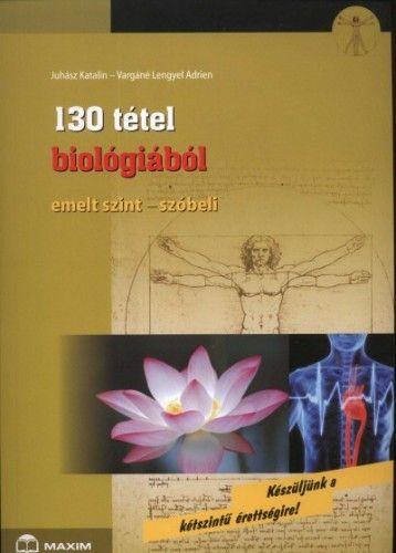 130 tétel biológiából Emelt szint-szóbeli