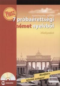 Plusz 7 próbaérettségi német nyelvből - Középszint -CD melléklettel
