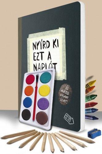 Nyírd ki ezt a naplót - pingálószettel - és alkoss valami újat! - Keri Smith |