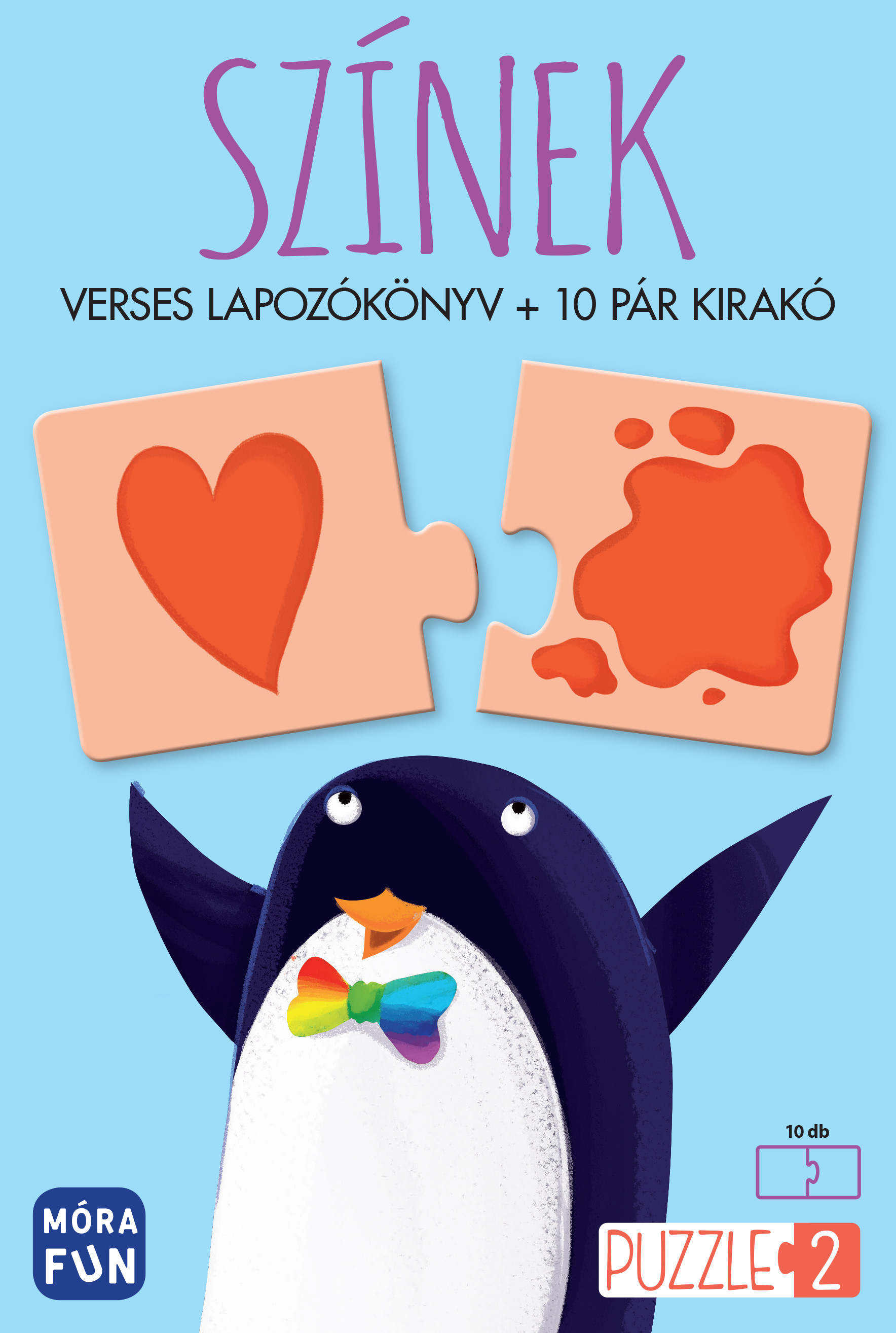 Színek - Verses lapozókönyv + 10 pár kirakó