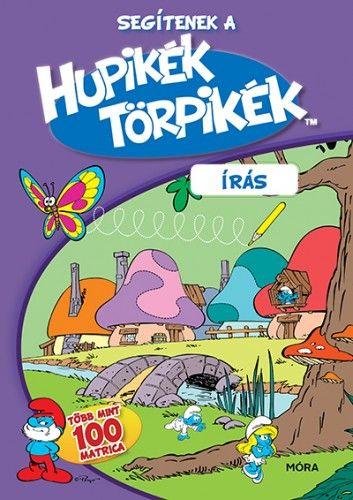Segítenek a Hupikék Törpikék - Írás matricás foglalkoztató