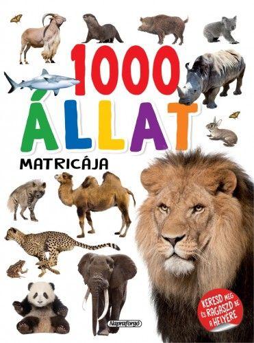 1000 állat matricája - Fehér