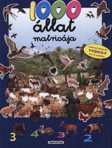 1000 állat matricája - Kék -  pdf epub