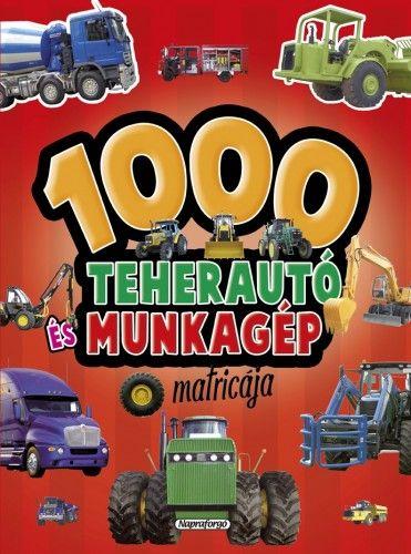 1000 teherautó és munkagép matricája - Piros