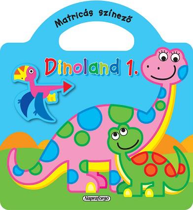 Dinoland - 1. Kék - Matricás színező - könyváruház 966dfda86f
