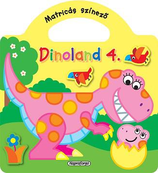 Dinoland - 4. Sárga - Matricás színező