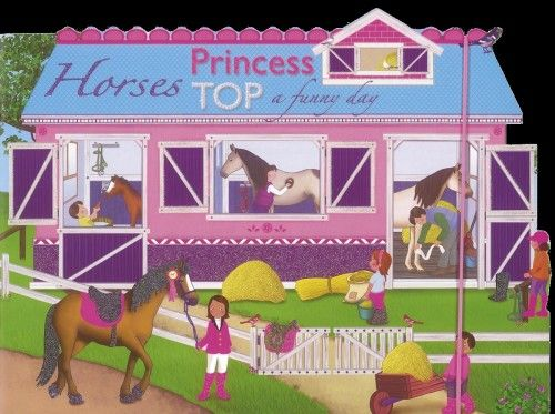 Princess TOP - Horses: a funny day (blue)