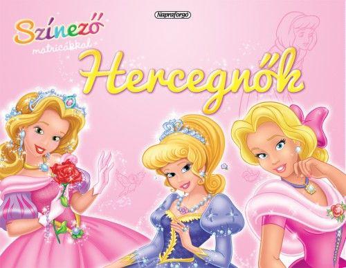 Színező matricákkal - Hercegnők