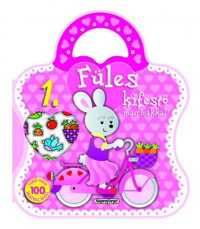 Füles kifestő matricákkal 1. - Bicikli - Több mint 100 db matricával
